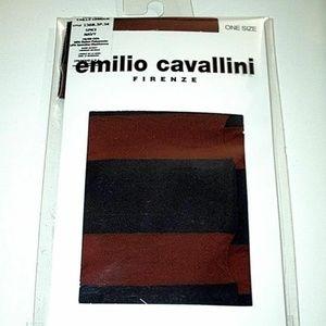EMILIO CAVALLINI Firenze KNEE HIGHS Spice Navy